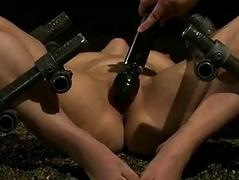 French unladylike bound and double penetrated