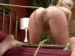 Extreme fantasy of girl bound with an increment of double
