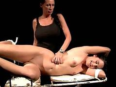 Mistress carrying-on close by her sex resulting