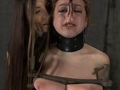 Hung up babe is punished