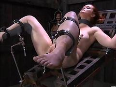 Hung up babe in arms is punished