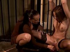 Mistress Mandy Gleaming fucking her coitus resulting