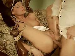 Young maid getting tied up and fucked hard