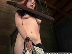 BDSM Slave Chained and Bowels Tormented