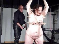 Fat layman slave Nimue Allen punished to tears