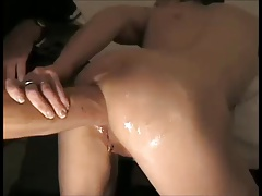 Hubby fists wife's ass with prolapse