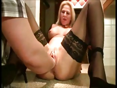 Milf gets fisted by hubby on vacation