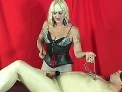 Mistress Kelly punishes cock plus balls