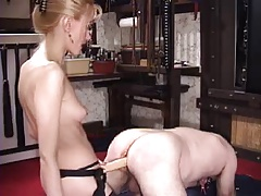Prostate Massage - Mistress Fisting & Milking her Male